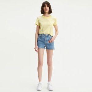 NWT Levi's Premium 501 High Rise Shorts Frayed Hem